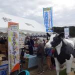 大内山酪農ブースと乳牛オブジェ